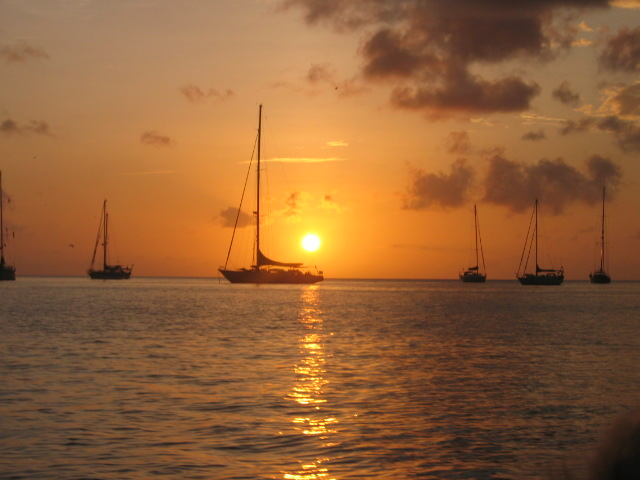Sunset over Bequia
