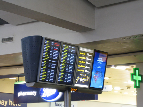 Heathrow departures board