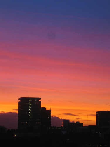 Sunset over London, 17-01-2006