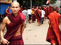 Hot Burmese monk