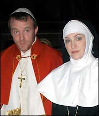 Madonna dressed as nun