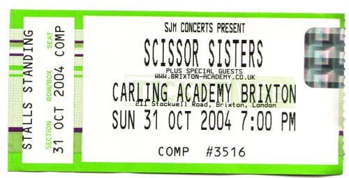 Scissor sisters ticket