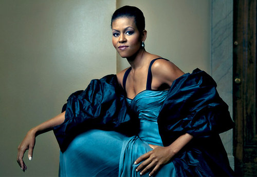 Michelle Obama, looking fierce